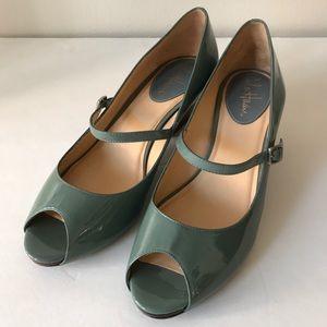 Cole Haan Peep Toe Mary Jane Heels size 8 🌸